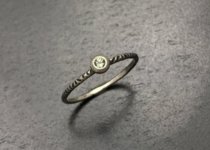 Stacking Ring with Denim Blue Sapphire