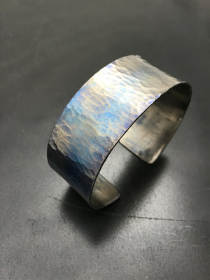 Titanium Wide Simple Cuff