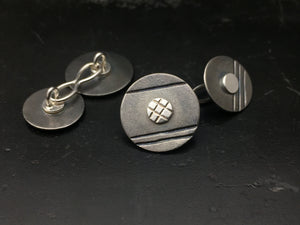 Titanium Disc Cufflinks