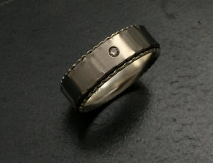 Titanium Band with Chocolate Diamond