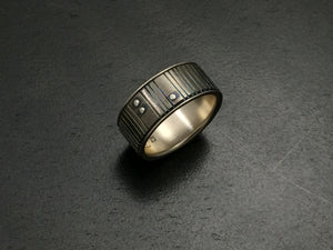 Titanium Multi Grooves Band