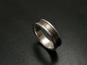 Titanium Faceted Hammered Band