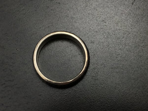 Titanium Half Round Hammered Band