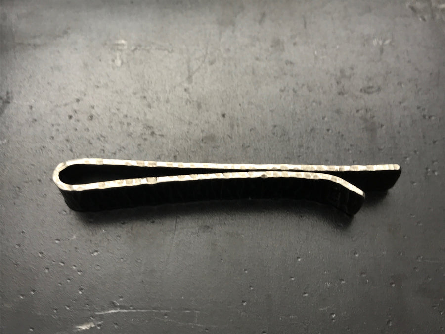 Sterling Silver Hammered Tie Bar