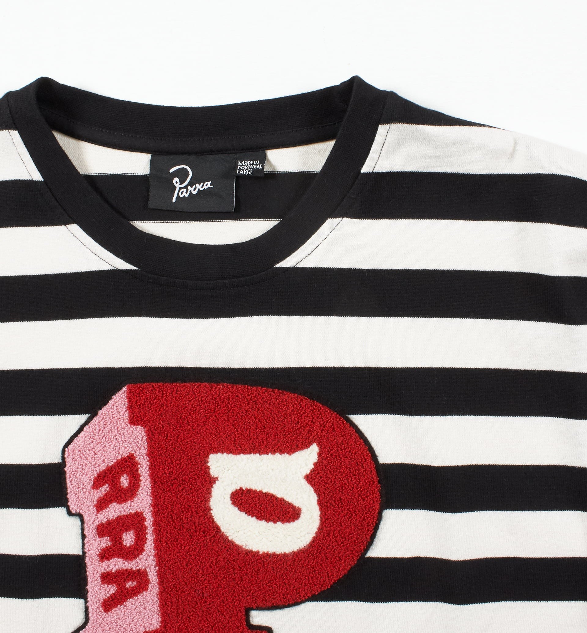 Parra - block P striped long sleeve t-shirt