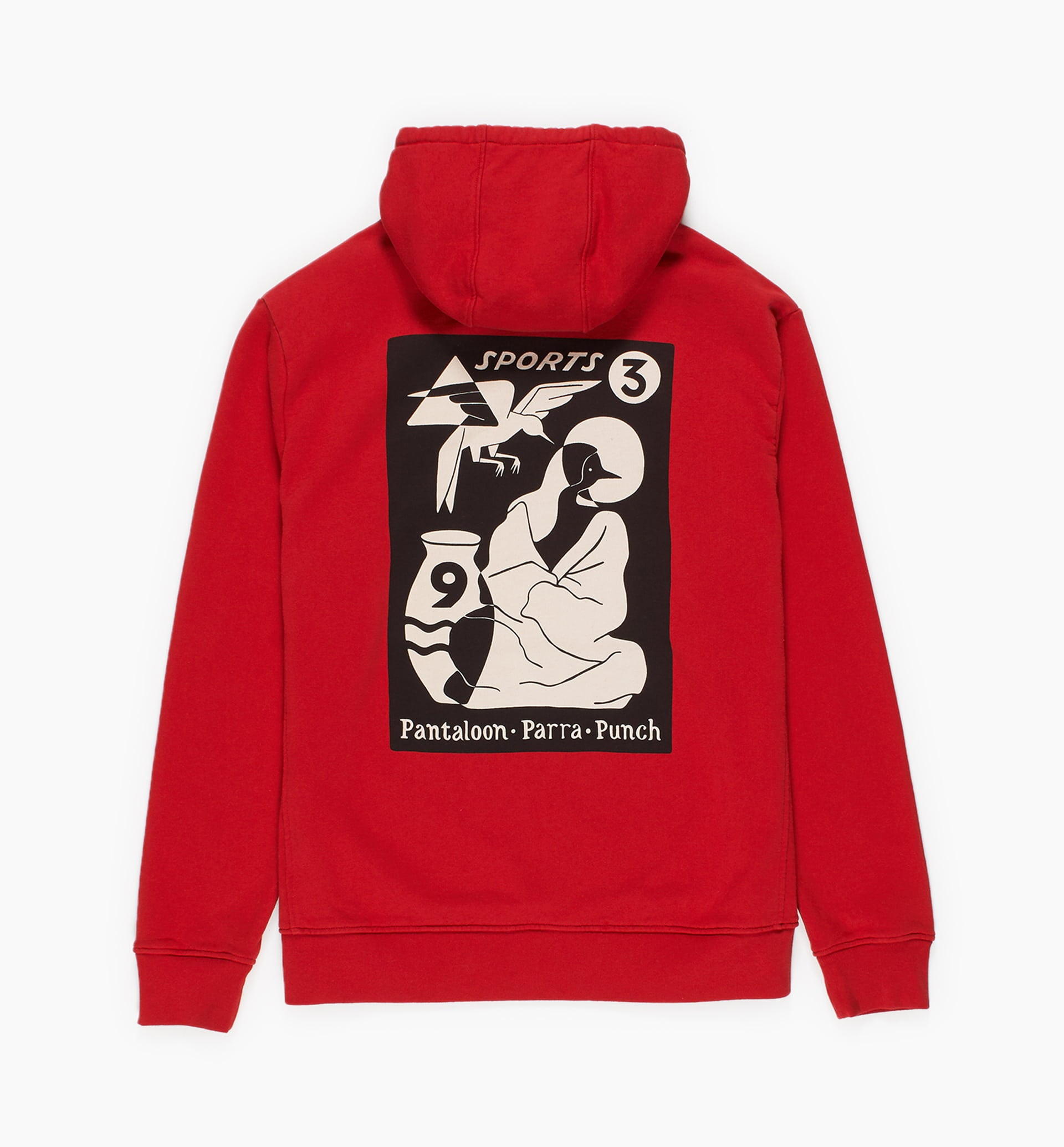Parra - wrapped blanket hooded sweatshirt