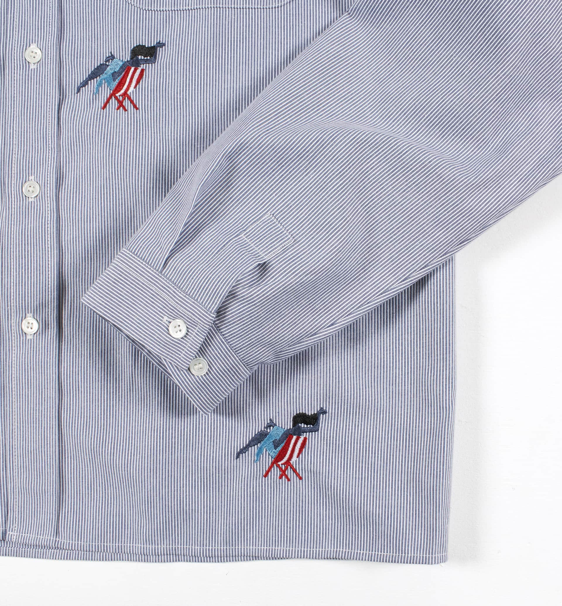 Parra - madame beach striped shirt