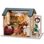 House Miniature Dollhouse With Furnitures Wooden