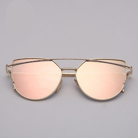 Cat eye Sunglasses Women Glass Mirror