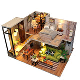 Dollhouse With Furniture Miniaturas Toys