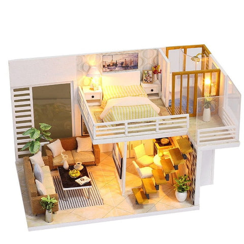 House Wooden Doll Houses Miniature