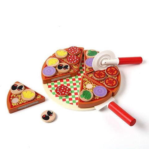 Pizza Wooden Toys Food Cooking