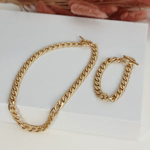 """Power"" gold necklace"