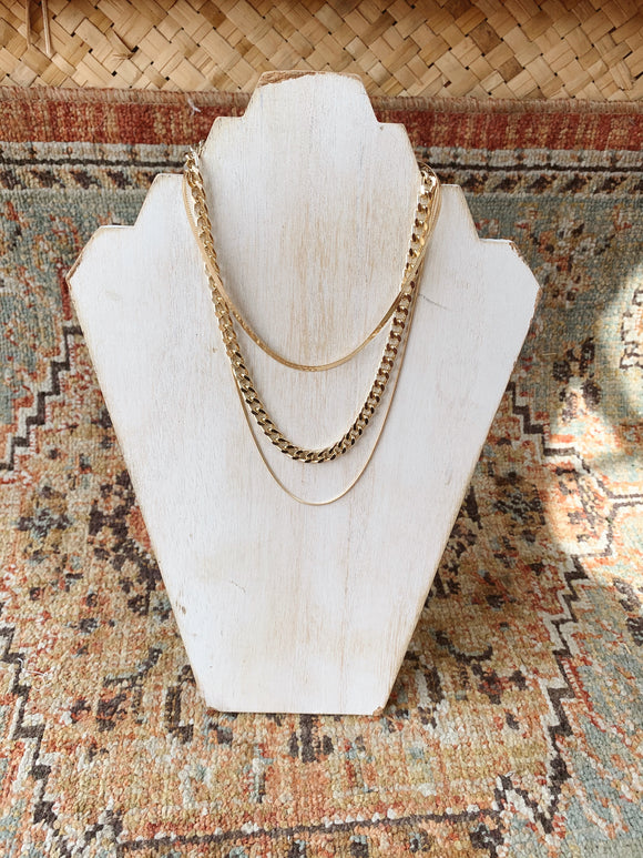"""Gold Goddess"" layered necklace"