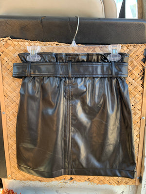 """Weekend get-away"" leather skirt"