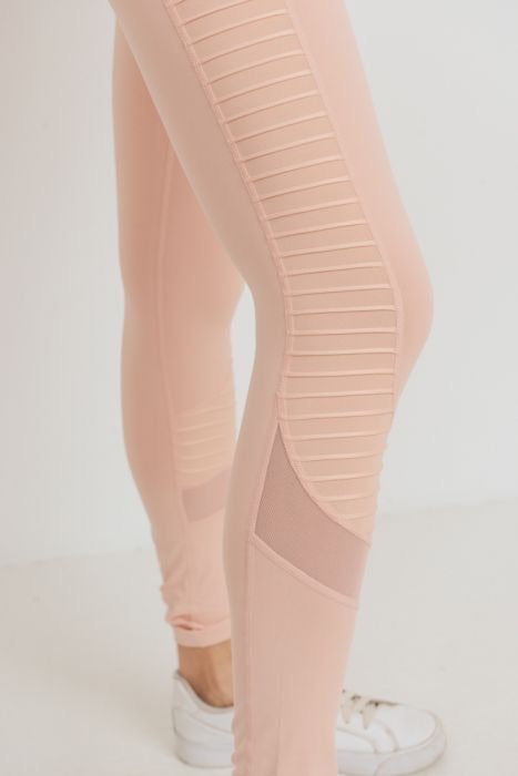 """Peachy-keen"" Moto leggings"