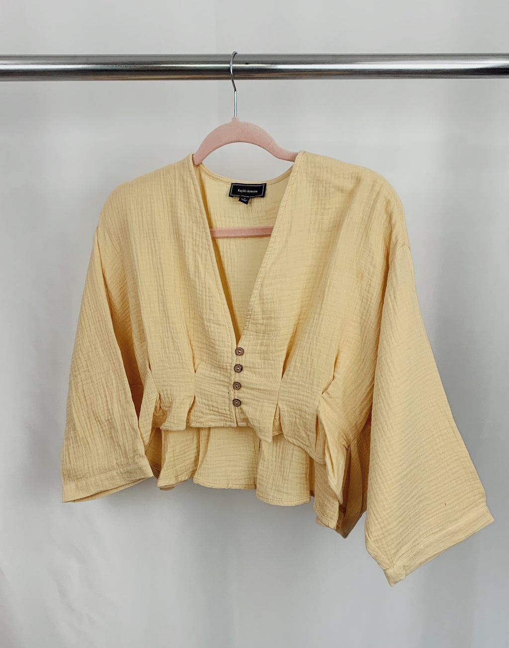 """Isla"" top (yellow)"