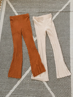 """Feelin groovy"" flare pants"