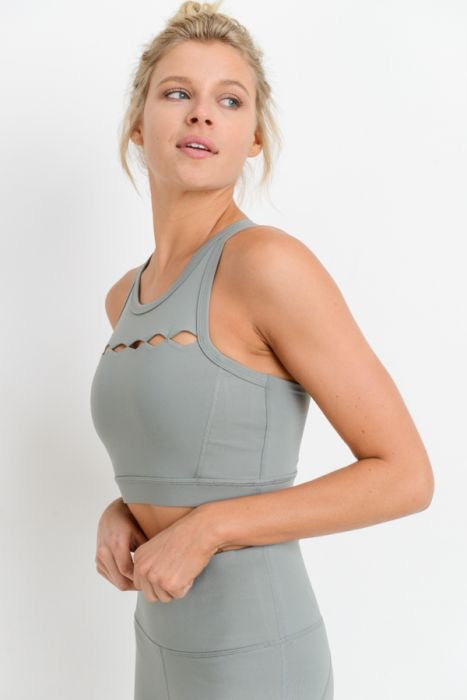 """Diamond skies"" top (sage, black)"