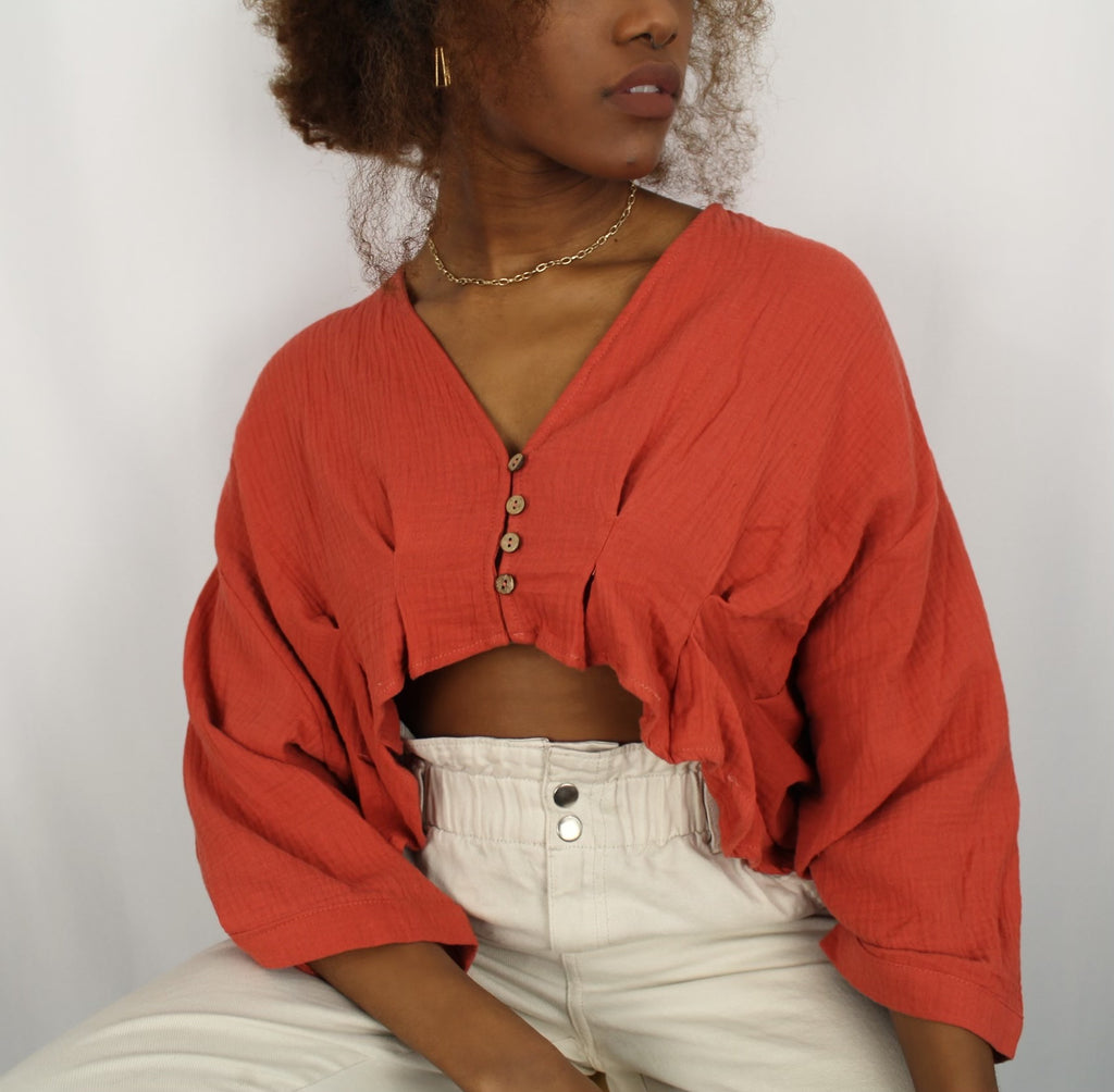 Isla top (sunset orange)