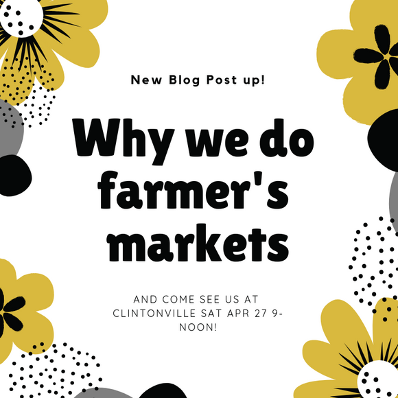 Why we do pop-ups at farmer's markets