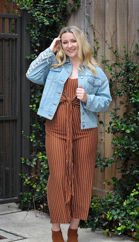 RETRO STRIPE JUMPSUIT