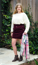 Load image into Gallery viewer, BURGUNDY CORDUROY BAG SKIRT