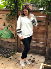 Load image into Gallery viewer, FRINGE SLEEVE SWEATSHIRT