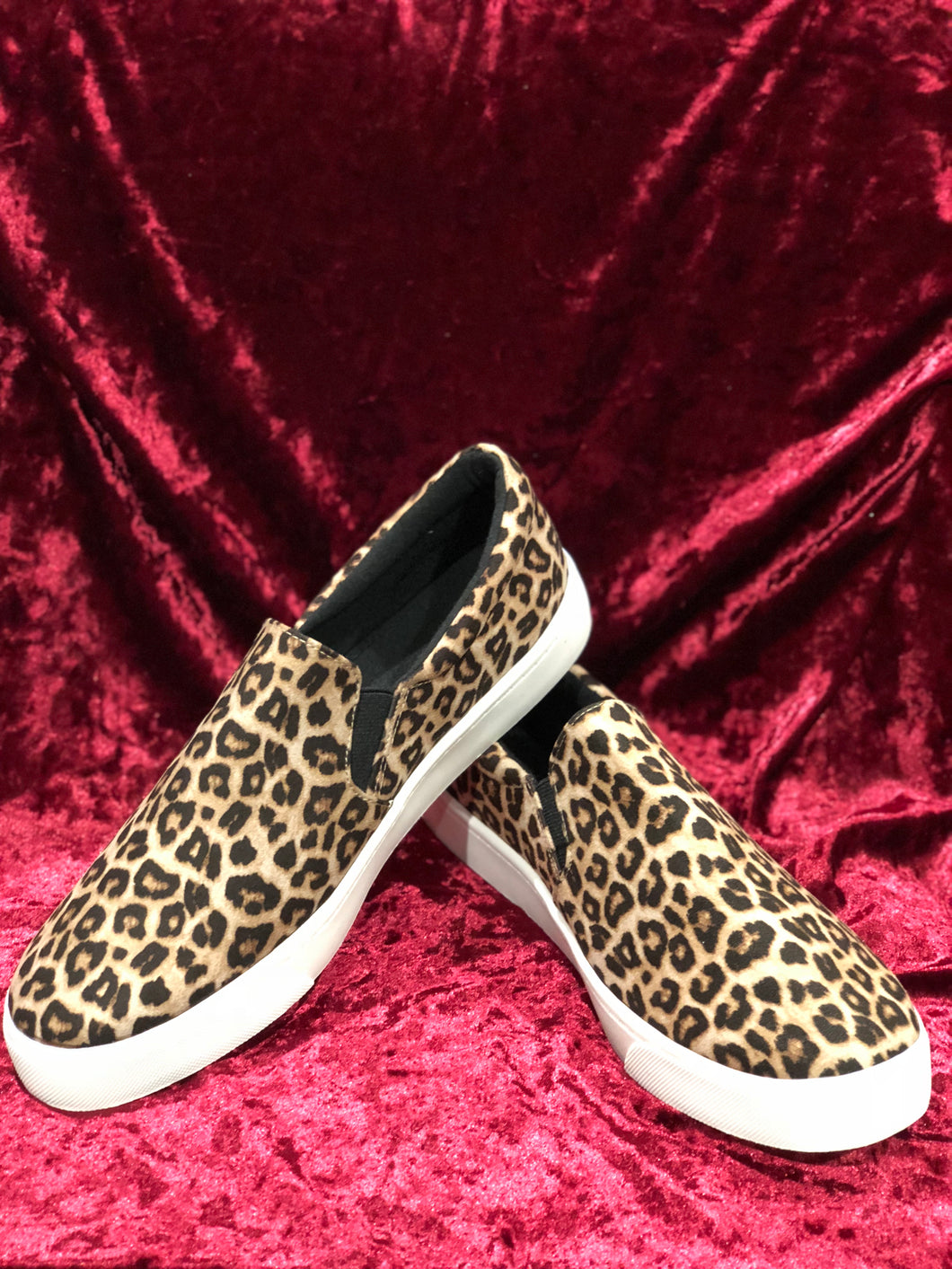 CHEETAH GIRL SLIDE ON SNEAKERS