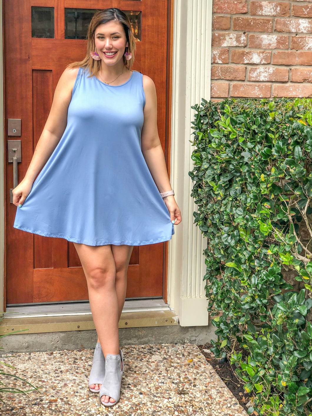 CRISS CROSS TSHIRT DRESS - CURVY
