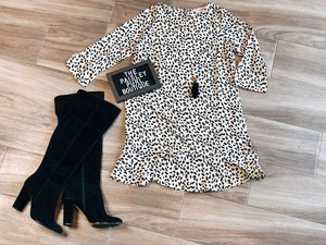 CAN'T CHANGE HER SPOTS DRESS - WHITE