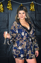 Load image into Gallery viewer, PAISLEY ROMPER - CURVY