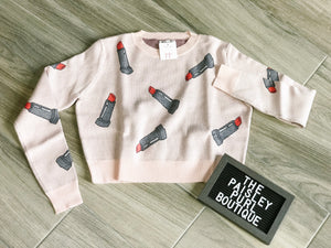 PULL YOURSELF TOGETHER CROP SWEATER