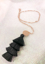 Load image into Gallery viewer, TIER TASSEL NECKLACE - BLACK