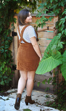Load image into Gallery viewer, CORDUROY OVERALL SKIRT - MUSTARD