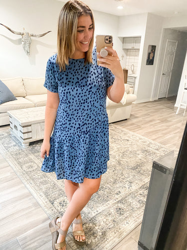THE ERICA DRESS - BLUE