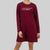Long Sleeve Round Neck Dress - 821886