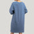 Ladies Long Sleeve Round Neck Dress - 821941