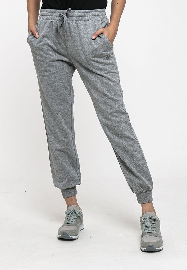 Ladies Plain Elastic Cotton Terry Jogger Pant - 810441