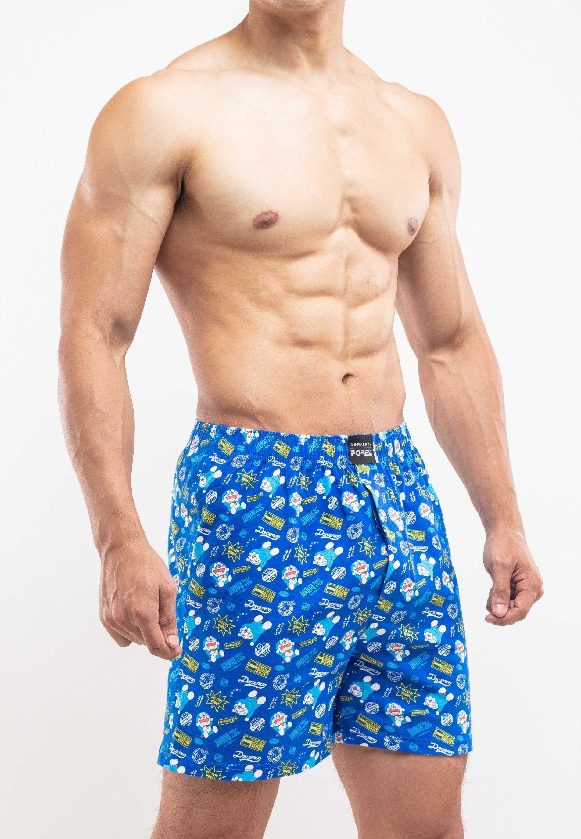 Doraemon 100% Cotton Printed Boxers ( 2 Pieces ) Assorted Colours - DUD0017X