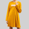 Long Sleeve Round Neck Dress - 821939