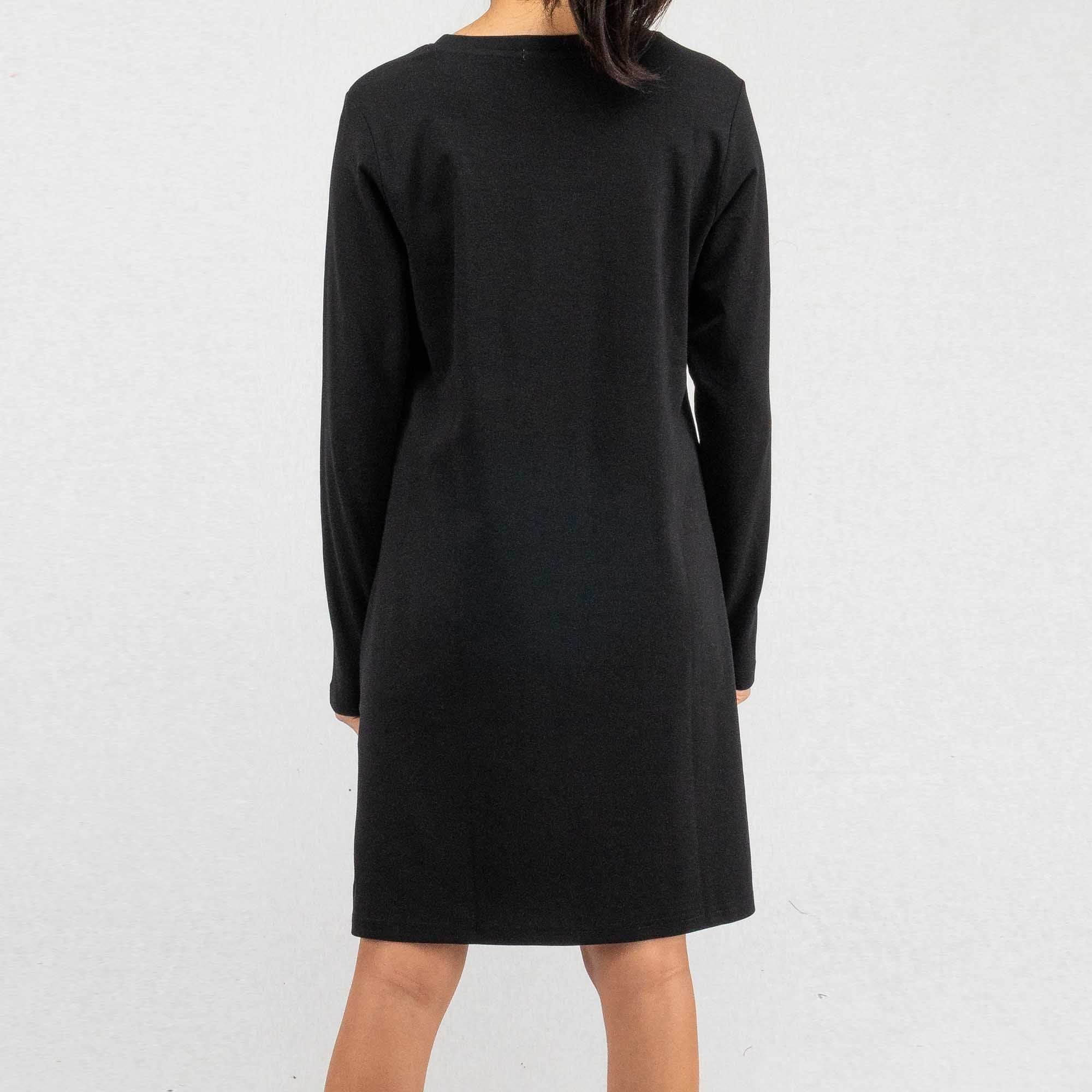 Ladies Long Sleeve Round Neck Dress - 821940