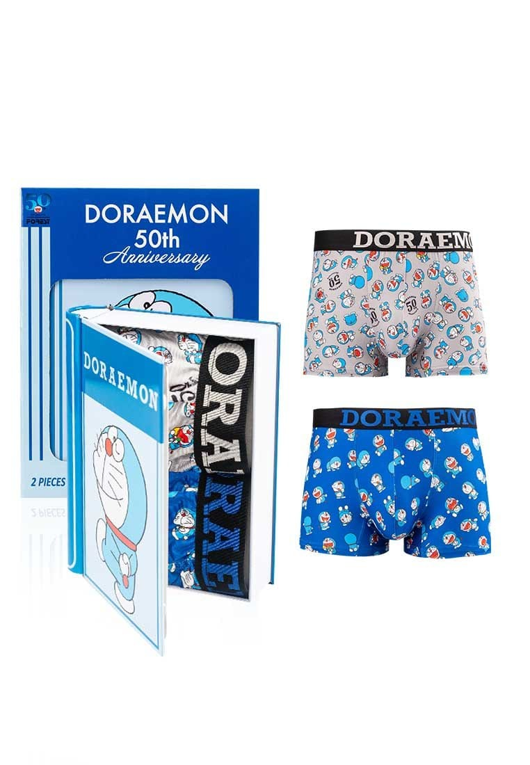 Doraemon Microfiber Spandex Shorty Briefs ( 2 Pieces ) Assorted Colours - DUB1008S
