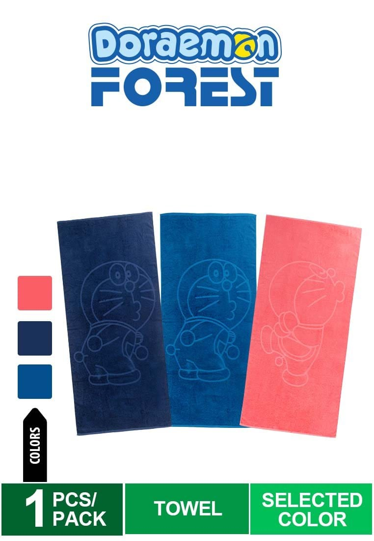 [GWP] Doraemon 100% Cotton Towel (1 Pc) Selected Colour - DZ016