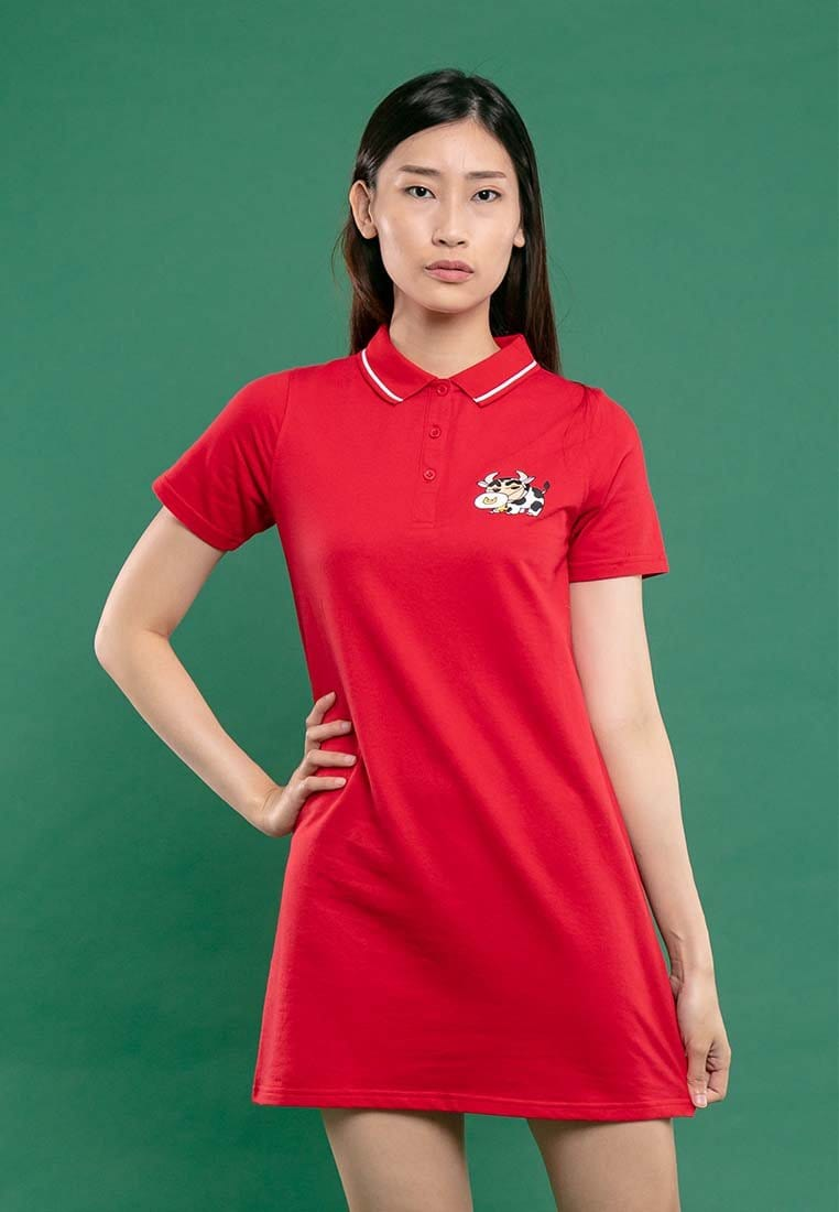 Shinchan Ladies Printed Polo Dress - FC820011