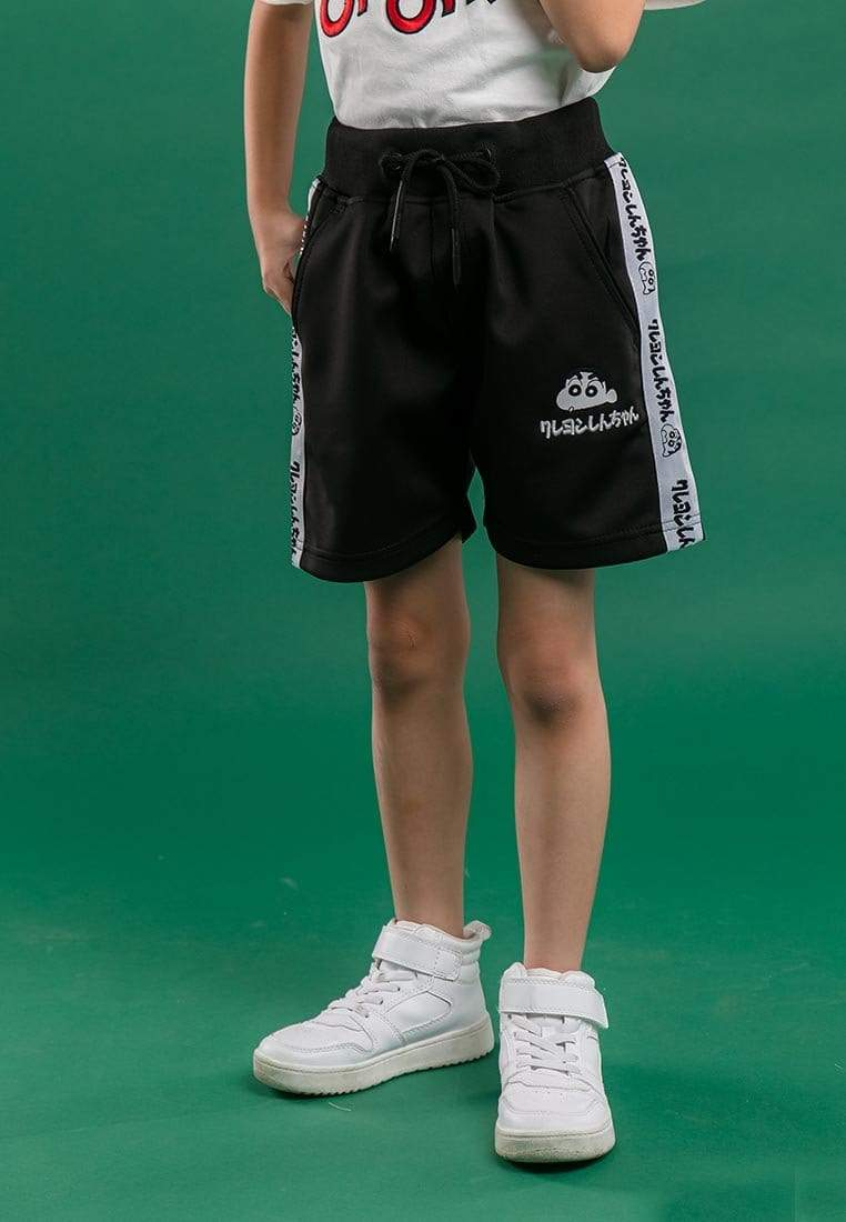Shinchan Kids Unisex Taping And Premium Printed Logo Short Pants - FCK6501