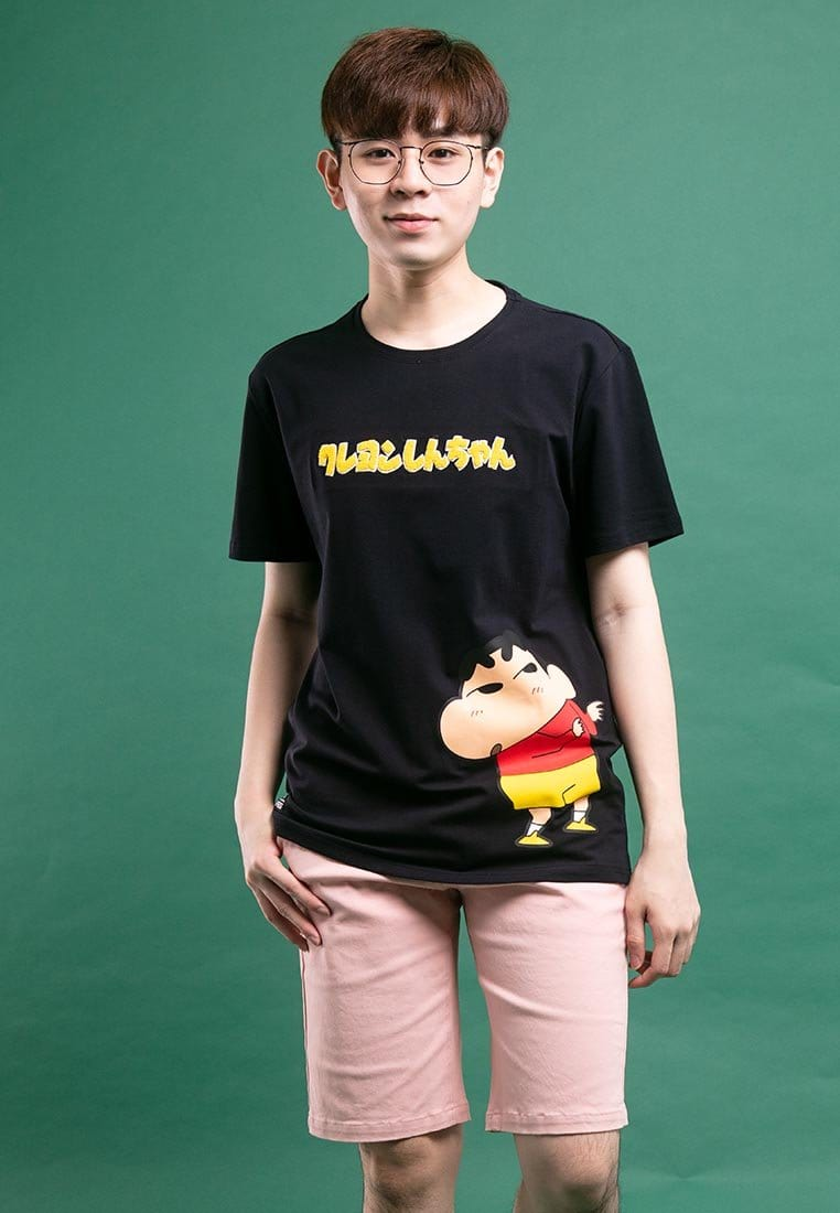 Shinchan Special Embroidered Font with Printed Round Neck Tee - FC20004