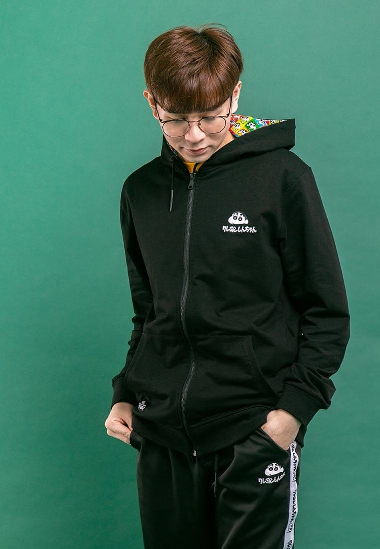 Shinchan Premium Printed Logo Hooded Jacket  - FC30000