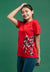 "Shinchan CNY  "" Lucky ""  Printed Round Neck Tee - FC820027"