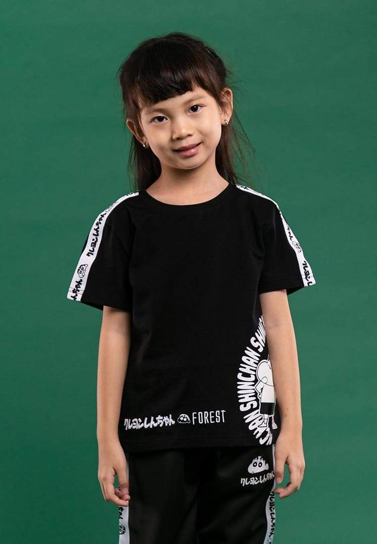 Shinchan Kids Embroidered with Special Print Round Neck Tee - FCK2002